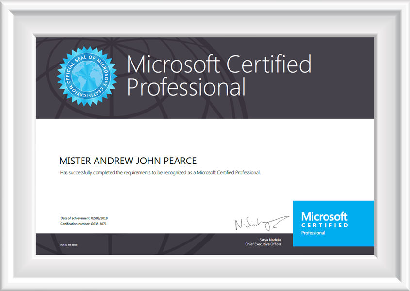 Mcp Certified Professional