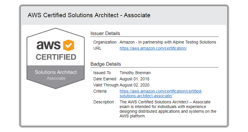 AWS Certified Solution Architect Professional - Associate
