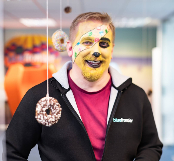 James Fry of Blue Frontier as Pudsey Bear