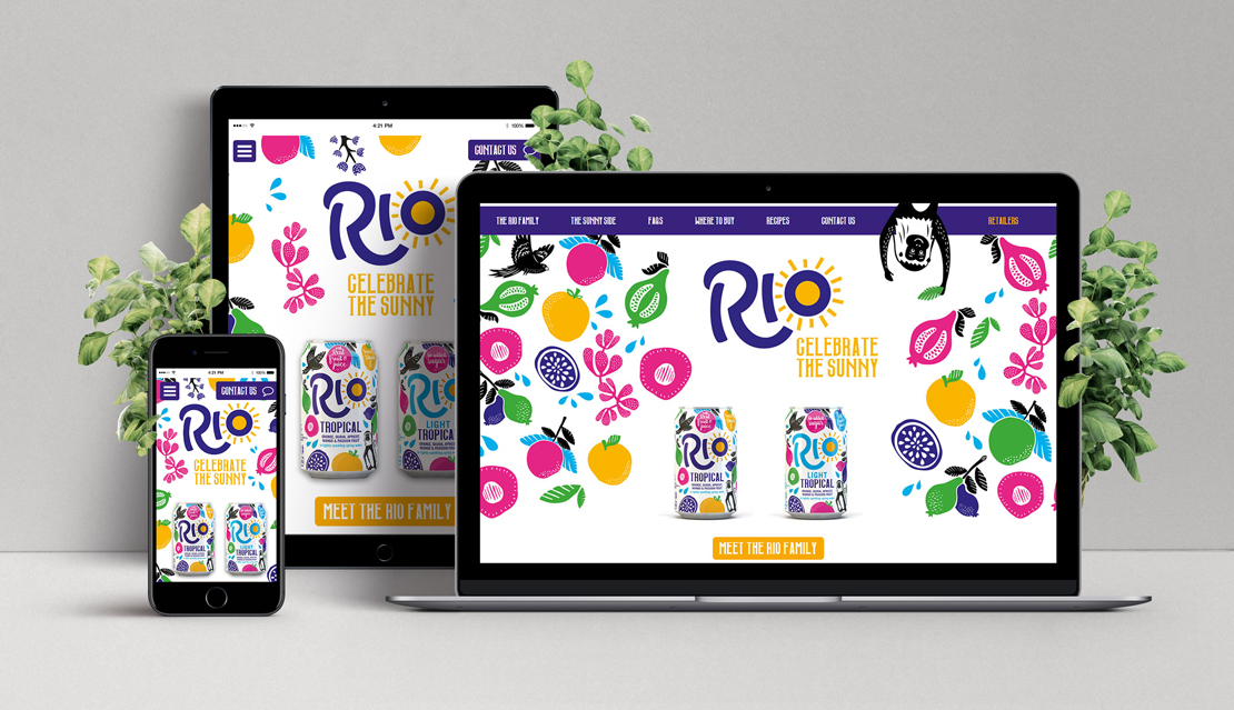 Rio on three sizes of screens