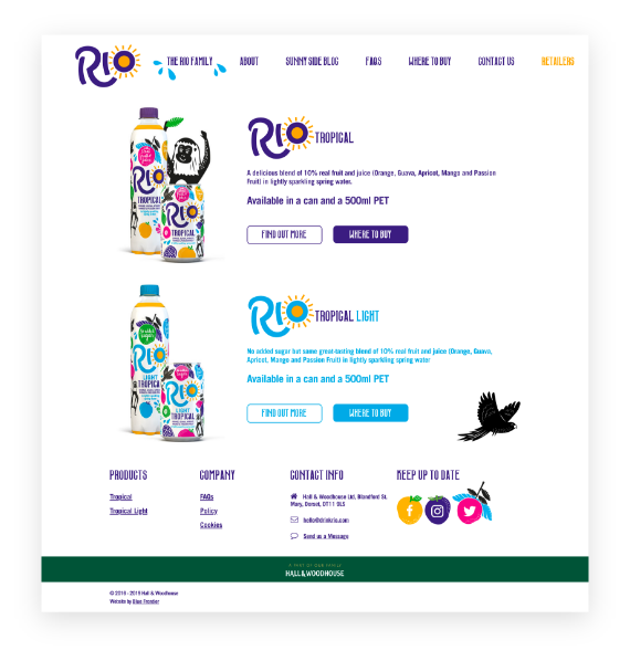 Rio product page on desktop