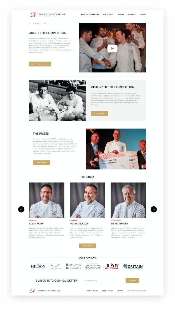 The Roux Scholarship About The Competition Page
