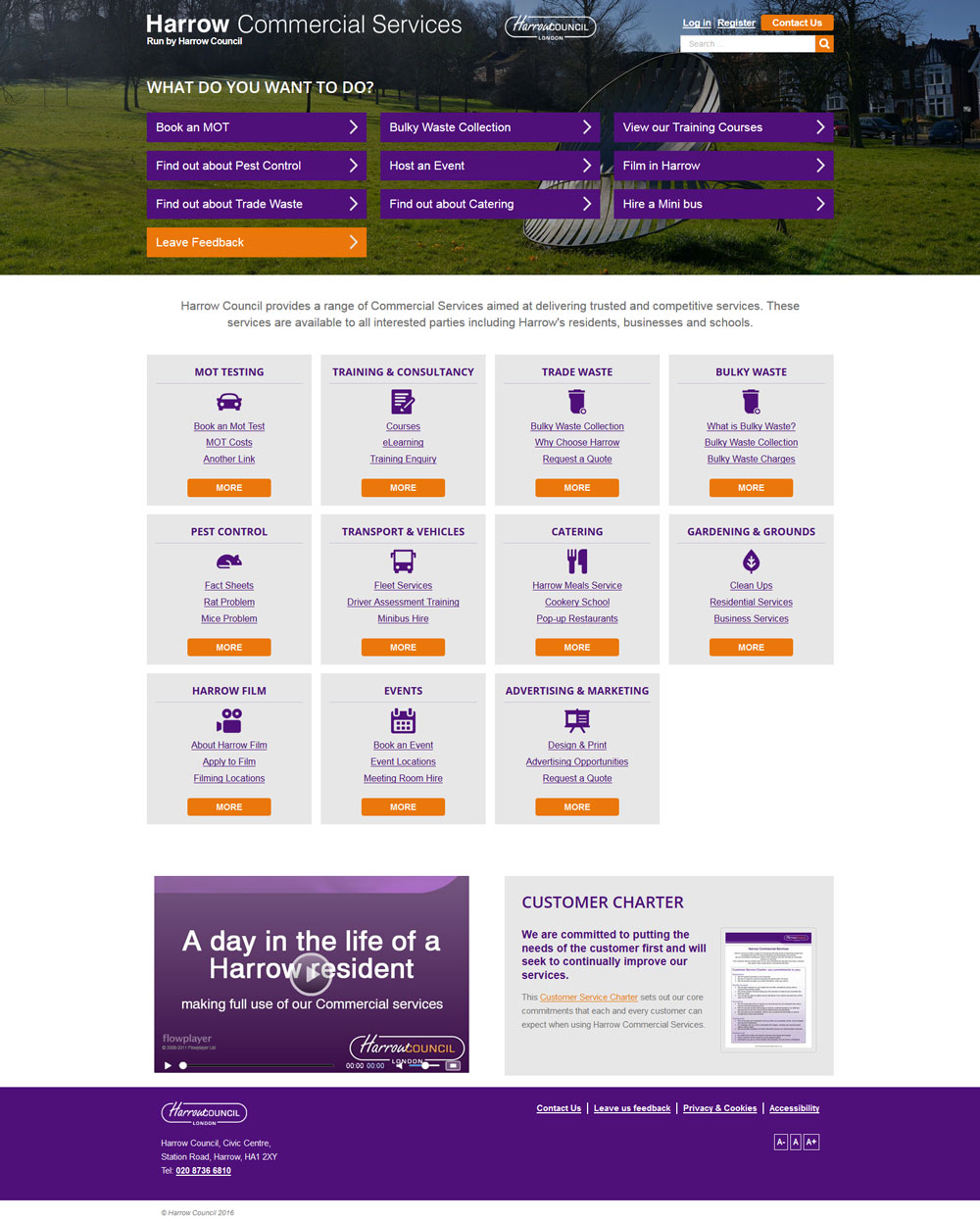 Desktop View Responsive Design - Harrow Council
