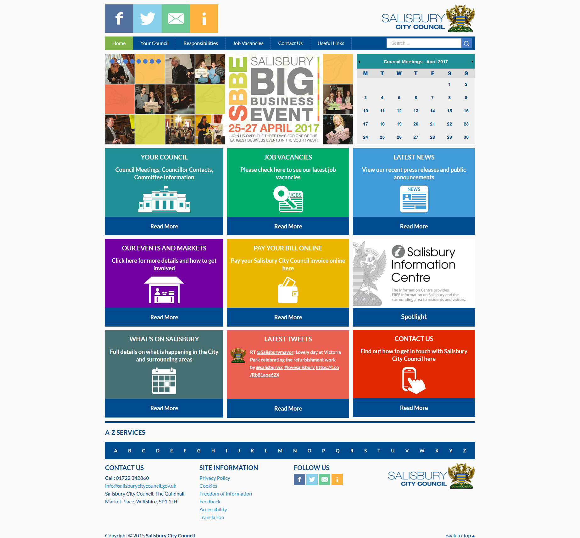 Salisbury Council Web Design - Full View