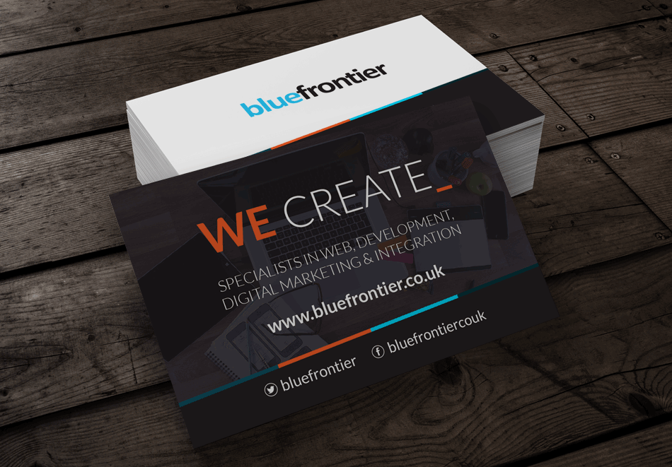 Blue Frontier Business Card Design