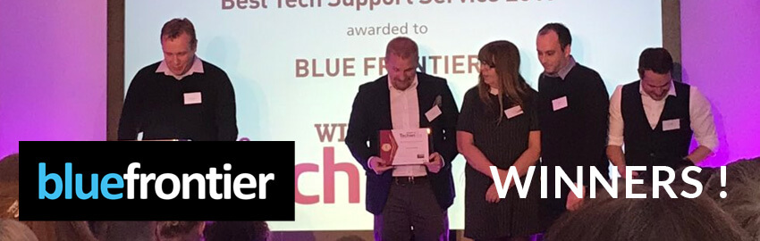 Blue Frontier Wins Best IT Support Role at the Techie Awards!
